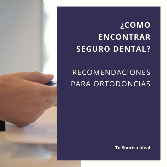 Como encontrar Seguro Dental